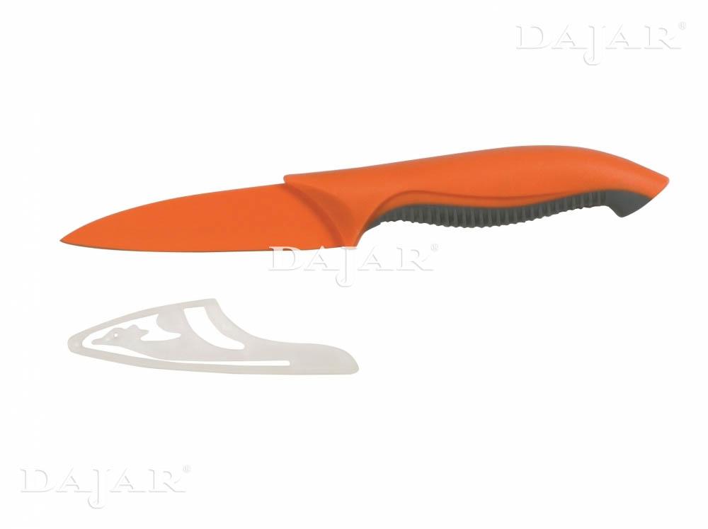 Nóż obierak Forte 9 cm z powłoką non-stick pomarańczowy AMBITION
