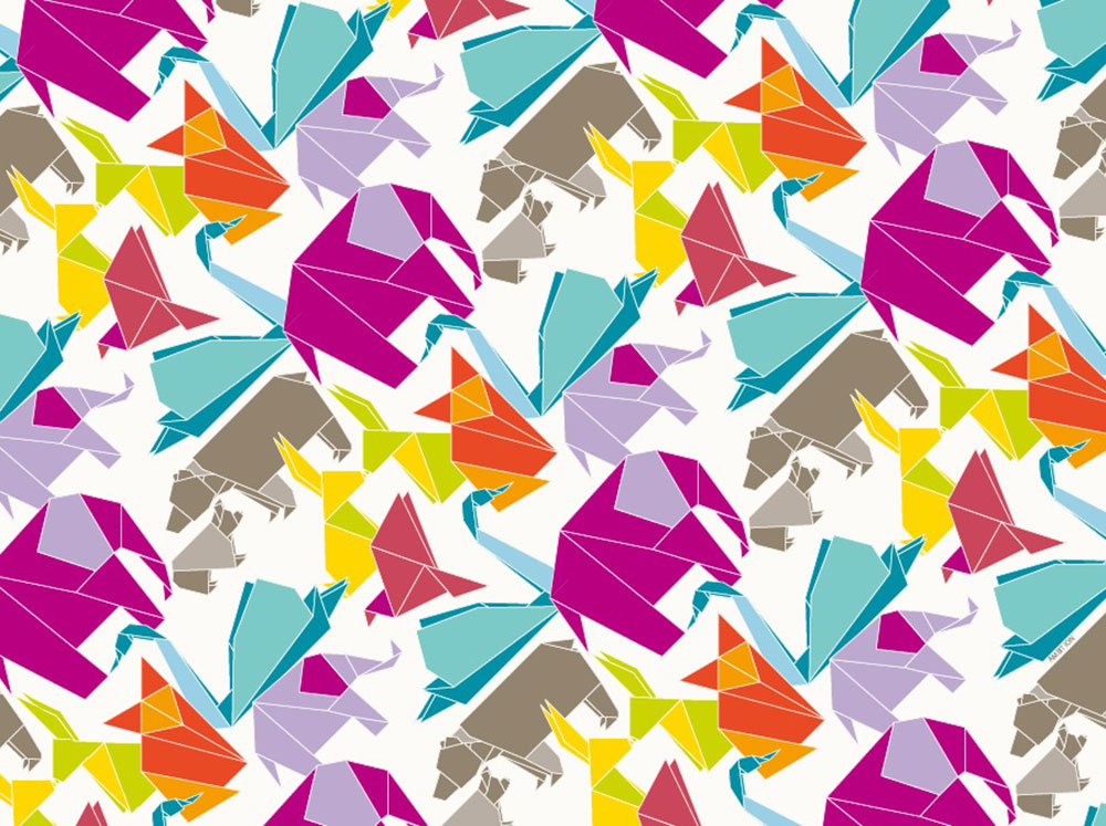 Komplet podkładek korkowych 2 szt. Happy Origami 39,5 x 29,5 cm AMBITION
