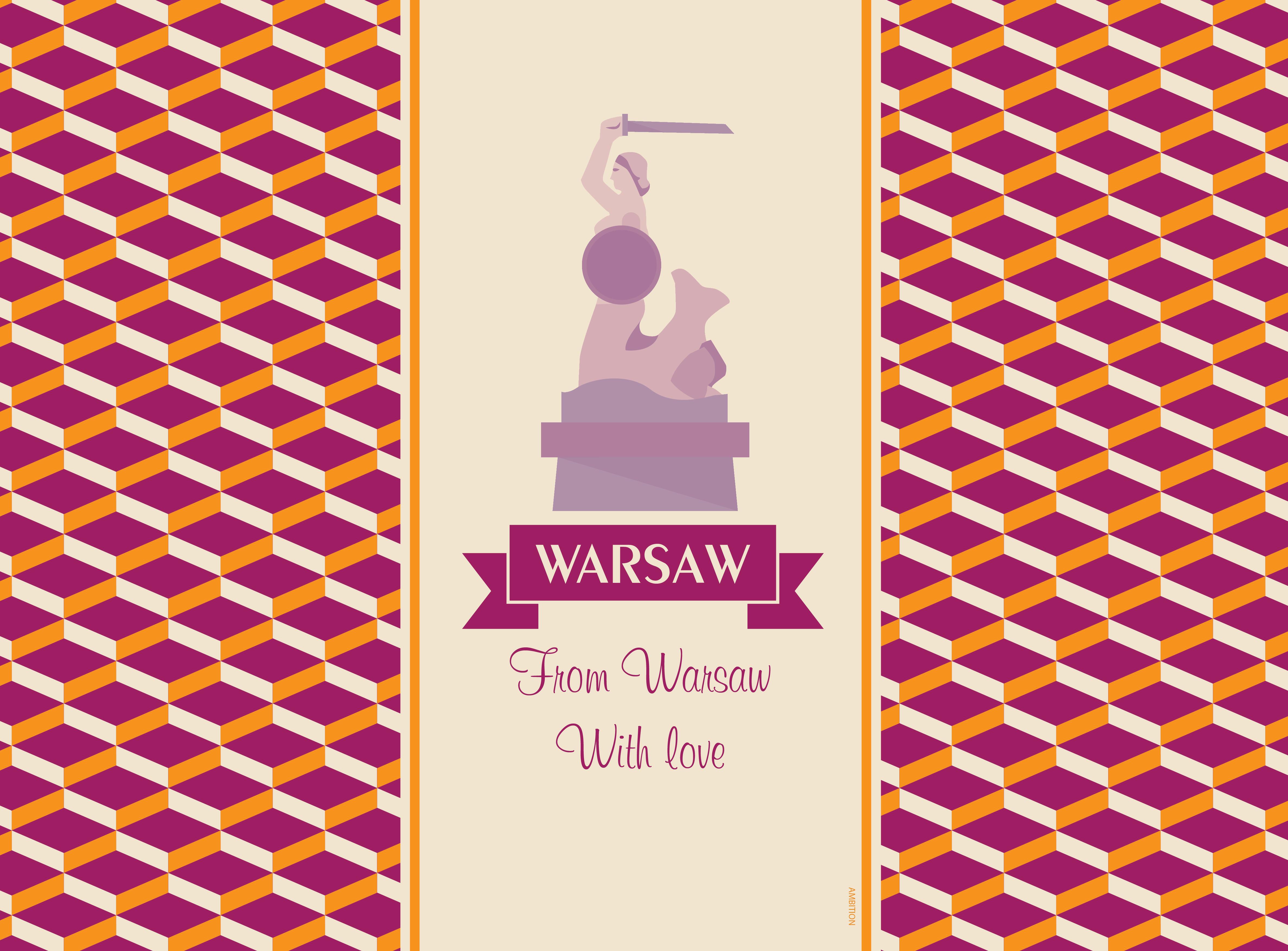 Komplet podkładek korkowych 2 szt. City Warsaw 39,5 x 29,5 cm AMBITION