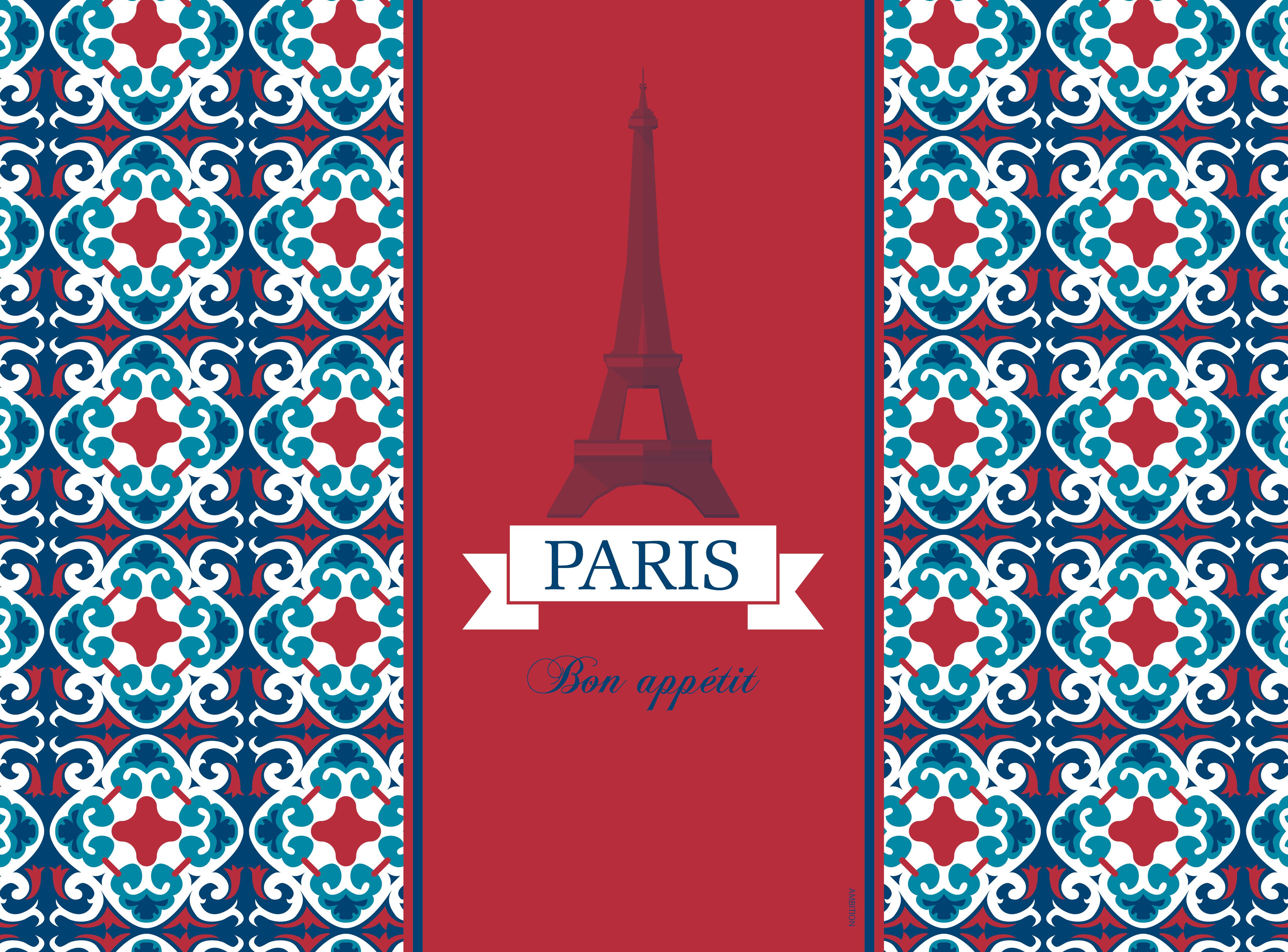 Komplet podkładek korkowych 2 szt. City Paris 39,5 x 29,5 cm AMBITION