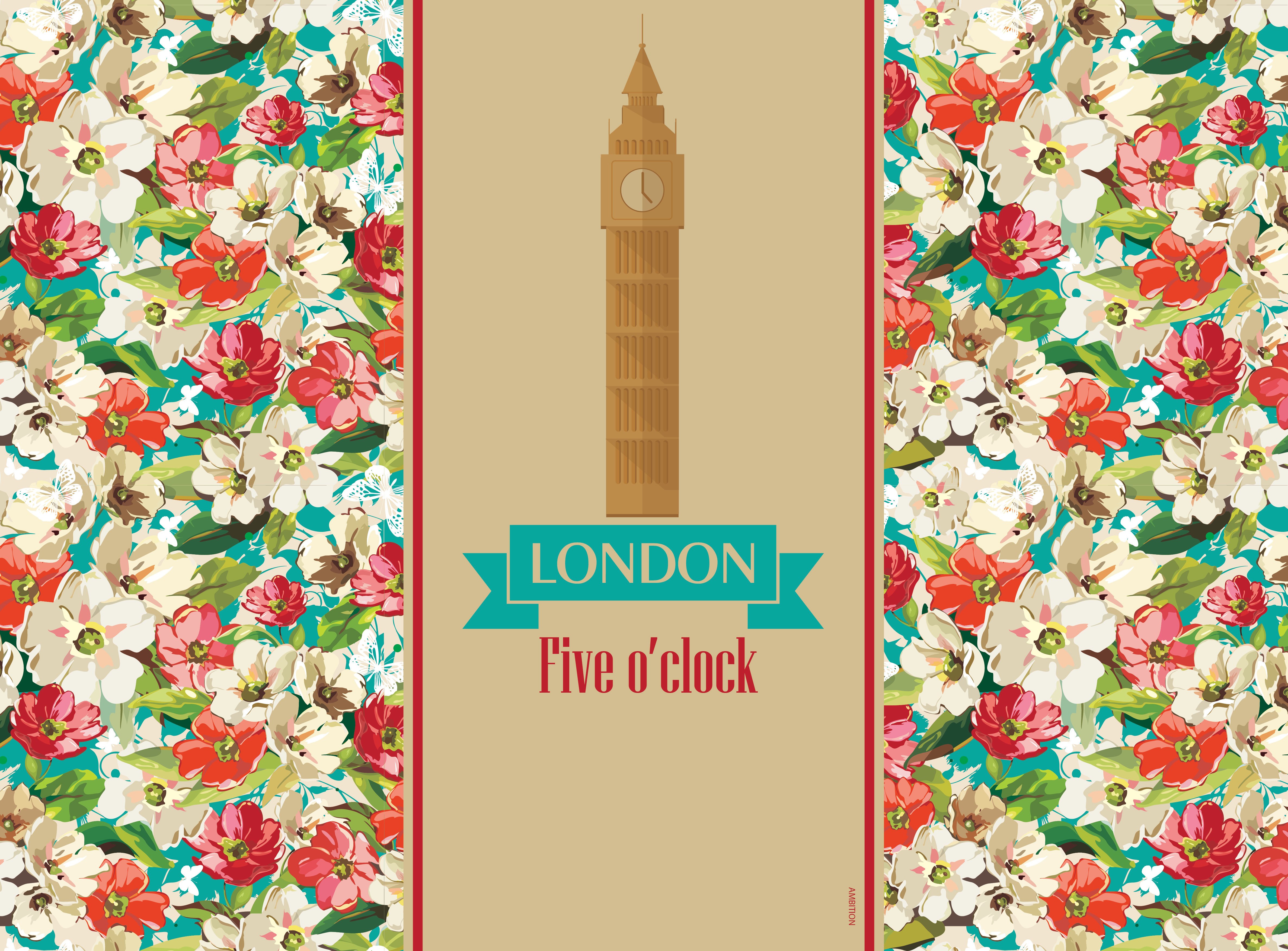 Komplet podkładek korkowych 2 szt. City London 39,5 x 29,5 cm AMBITION