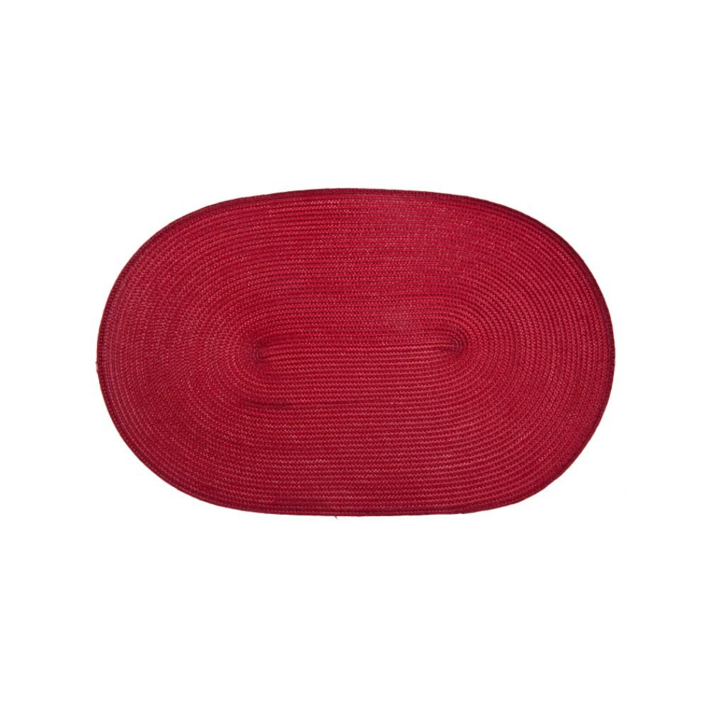 Mata stołowa Fusion Fresh Red 45 x 30 cm owalna AMBITION