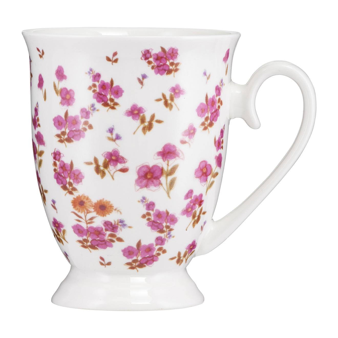 Kubek porcelanowy Diana Kwiatki Różowe 300 ml AMBITION