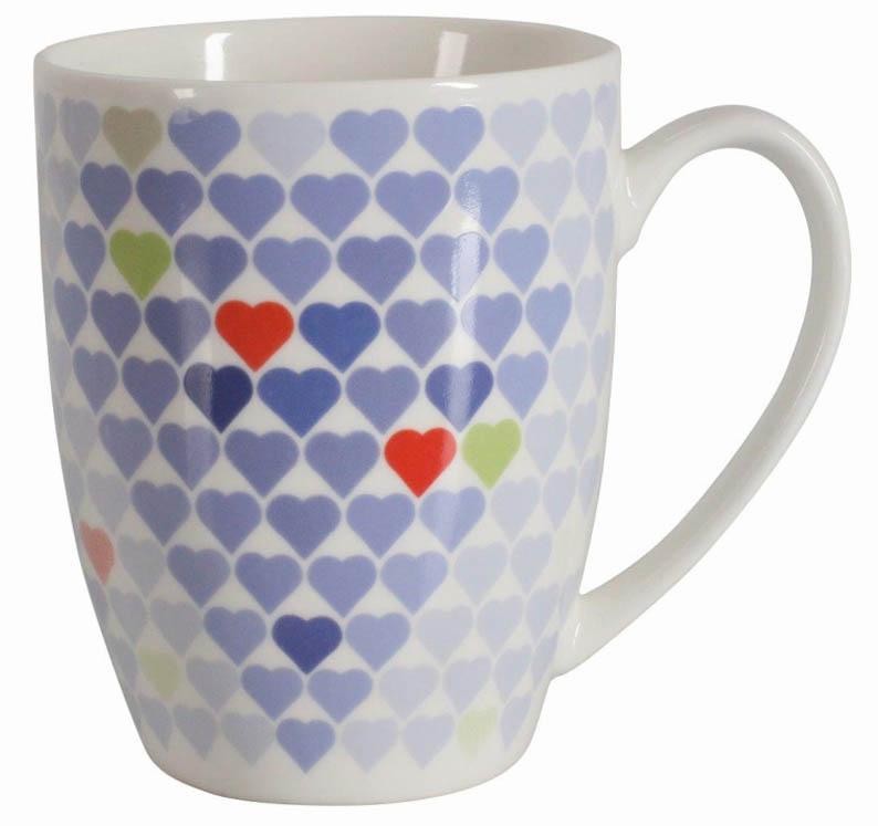 Kubek Love Blue Serduszka 390 ml AMBITION