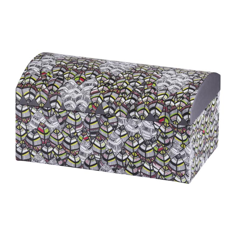 Pudełko z lusterkiem Look Piórka 20 x 12 x 10,5 cm AMBITION