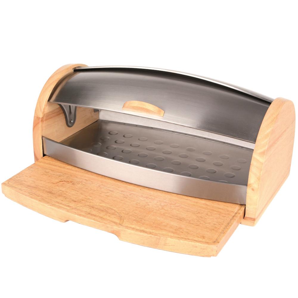 Chlebak drewniany Oskar z deską do krojenia 45 x 26 x 18 cm AMBITION