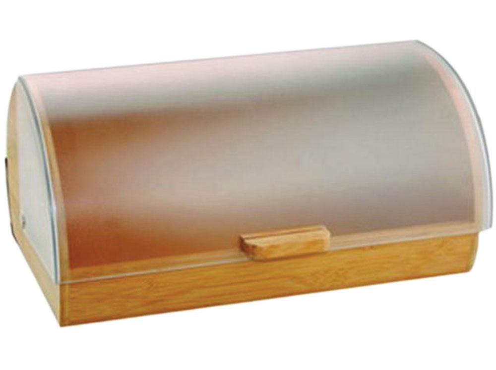 Chlebak drewniany Gordon z plastikową pokrywą 39 x 28 x 18,5 AMBITION