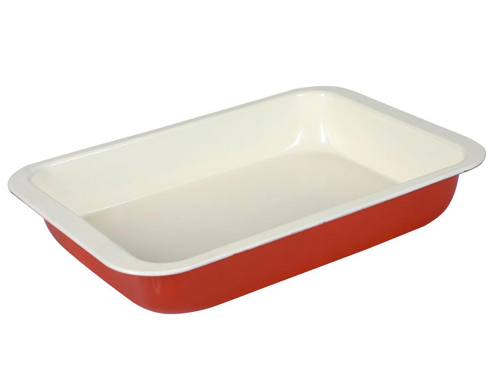 Brytfanna z powłoką ceramiczną Fusion Fresh Red 36,5 x 24,5 cm AMBITION