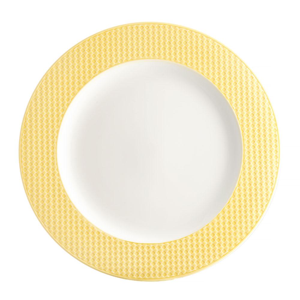 Talerz deserowy Nordic 21,5 cm żółty AMBITION